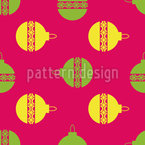 Twisted Christmas Tree Ornaments Repeating Pattern