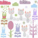 Cats In The Forest Pattern Design