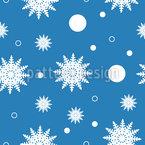 Schneeflocken An Weihnachten Rapportmuster