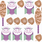 Baby Owls In Nature Design Pattern