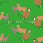 Lamas auf der Wiese Musterdesign
