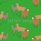 Lamas on the Meadow Pattern Design