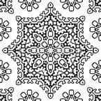 Estrela Embelezada Design de padrão vetorial sem costura