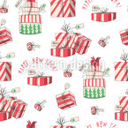 Weihnachtsmorgen Freude Nahtloses Vektormuster
