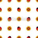 Marienkäfer und Sonnenblumen Designmuster