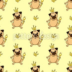 The Royal Pug Seamless Pattern