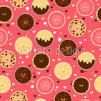 Funny Cookies Seamless Vector Pattern Design