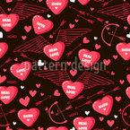 Liebesgrüße Nahtloses Vektor Muster