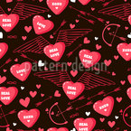 Love Greetings Seamless Vector Pattern Design