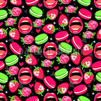 Roses and Macaroons Vector Pattern