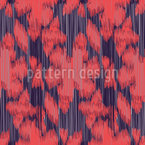 Exotic Flower Ikat Pattern Design