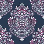 Romantique baroque Motif Vectoriel Sans Couture