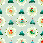 Christmas Birds Repeating Pattern