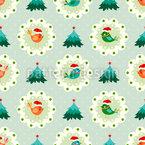 Weihnachtsvögel Rapportiertes Design