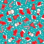 Ho Ho Ho Weihnachtsmann Nahtloses Vektormuster