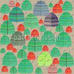 Regnerischer Herbst Wald Muster Design