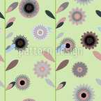 High flowers Vector Ornament