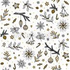 Glänzende Weihnachten Rapportiertes Design