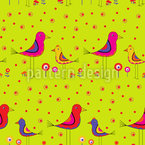 Dickybirds Estampado Vectorial Sin Costura