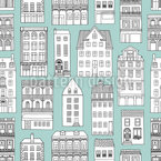City Houses Pattern Design