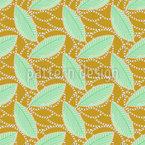 Zusammenhängende Blätter Nahtloses Muster