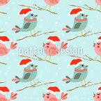 Christmas cute birds Vector Design