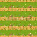 Lamas am Zaun Musterdesign