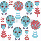 Sugar skulls and flowers Design Pattern