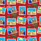 Lamas on Holidays Seamless Pattern