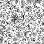 Garten der Blumen Nahtloses Vektormuster