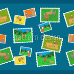 Lama Picture wall  Repeating Pattern