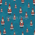 Papai Noel está chegando Design de padrão vetorial sem costura
