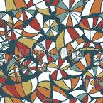 空飛ぶ傘 シームレスなベクトルパターン設計