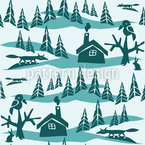 Fuchs im Winterwald Nahtloses Vektormuster