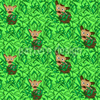 Fawns in high grass Design Pattern