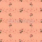 Fawns exploring stars Seamless Pattern