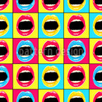 Pop Art Lippen Vektor Design