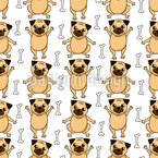 Pugs and Bones Repeating Pattern