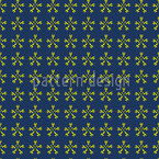 Flower Crossover Seamless Vector Pattern