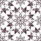Verzierter Mosaik Stern Nahtloses Vektormuster