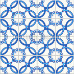 Quatrefoil português Design de padrão vetorial sem costura