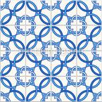 Portuguese Quatrefoil Seamless Vector Pattern Design