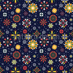 Floral snowfall Pattern Design
