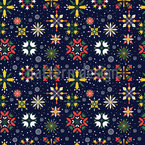 Floral christmas stars Pattern Design