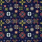 Florale Weihnachtssterne Nahtloses Vektormuster