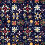 Floral Strohsterne Nahtloses Vektormuster
