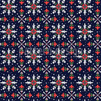 Floral Snowstars Seamless Pattern