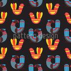 抽象ファンタジーの鳥 シームレスなベクトルパターン設計