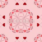 A Flush Of Love Seamless Vector Pattern Design
