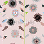 Growing Flowers Vector Ornament